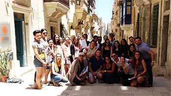 楽しそうな留学生たち